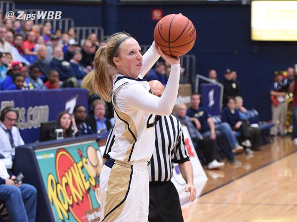 Hannah Plybon netted 23 on Saturday, but the Zips fell short