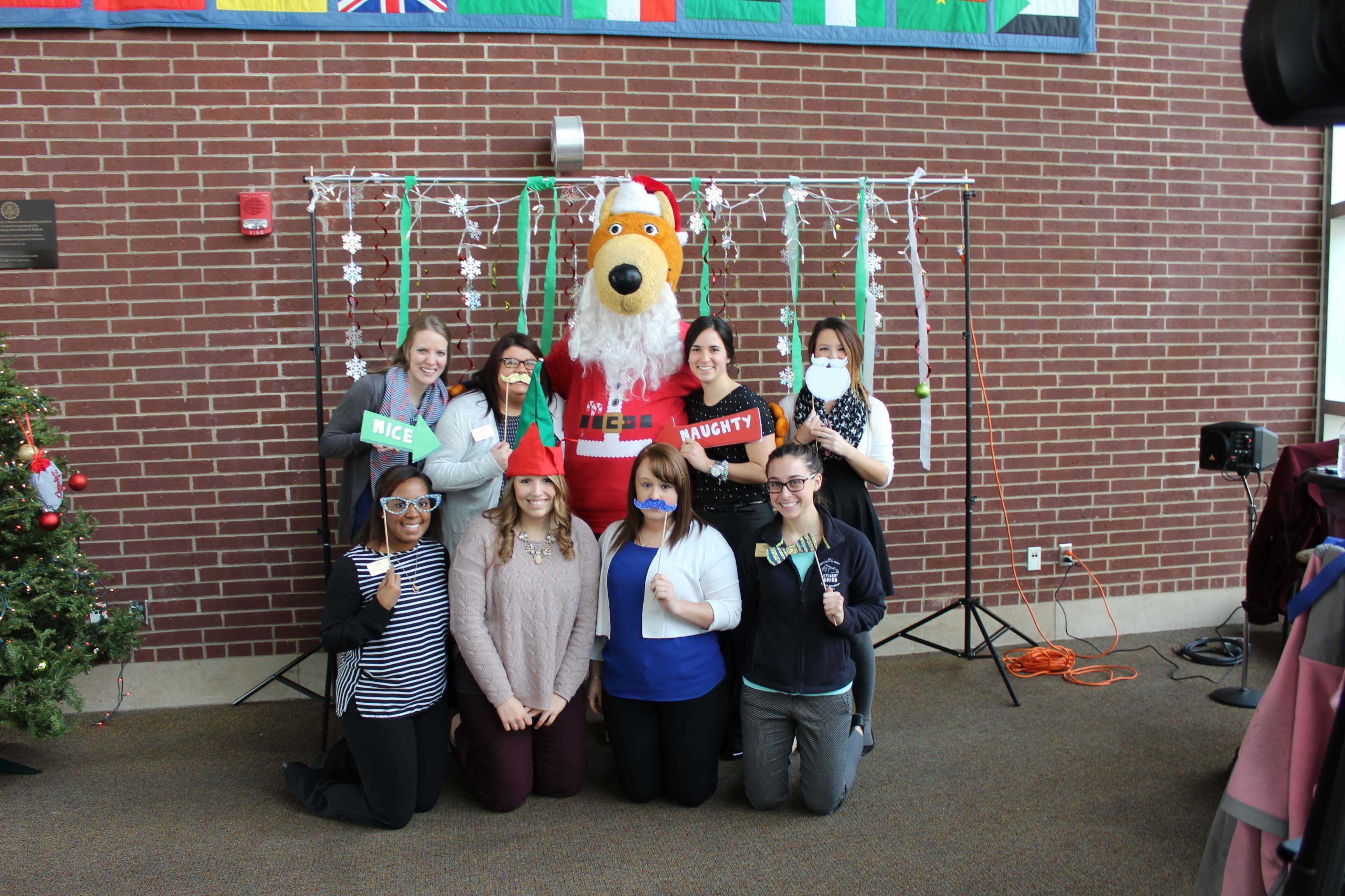 Santa Zippy and students.