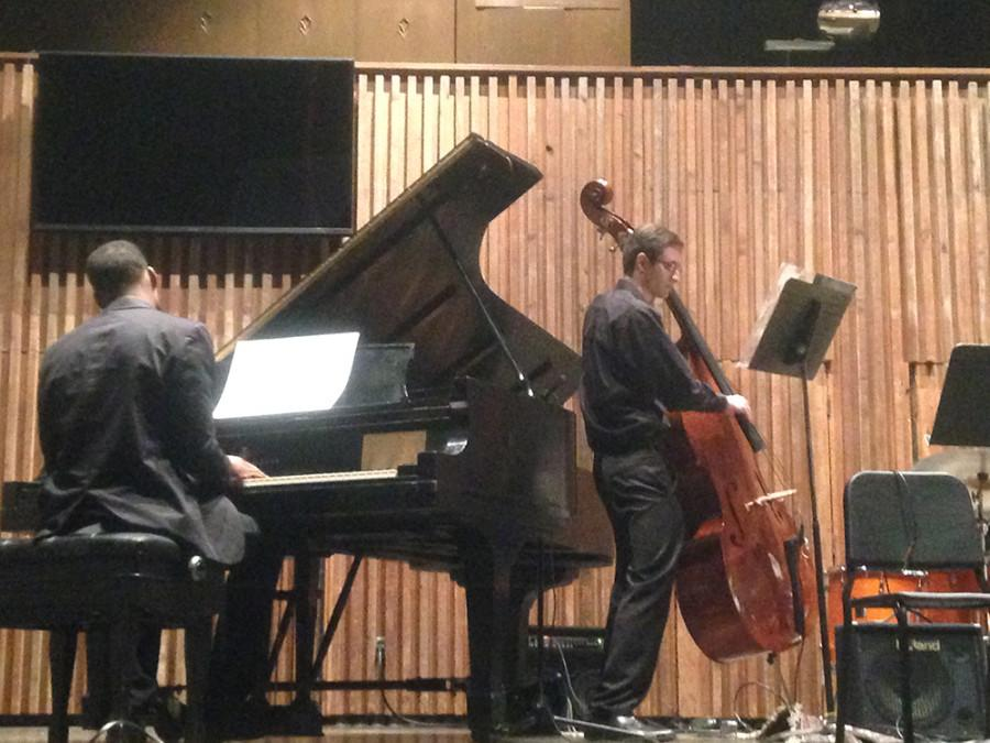 Pianist Cedric Talbert and bass player Nick Golina perform at Monday's jazz concert