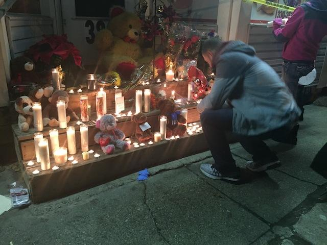 A vigil was held on Wednesday night, Dec. 9.