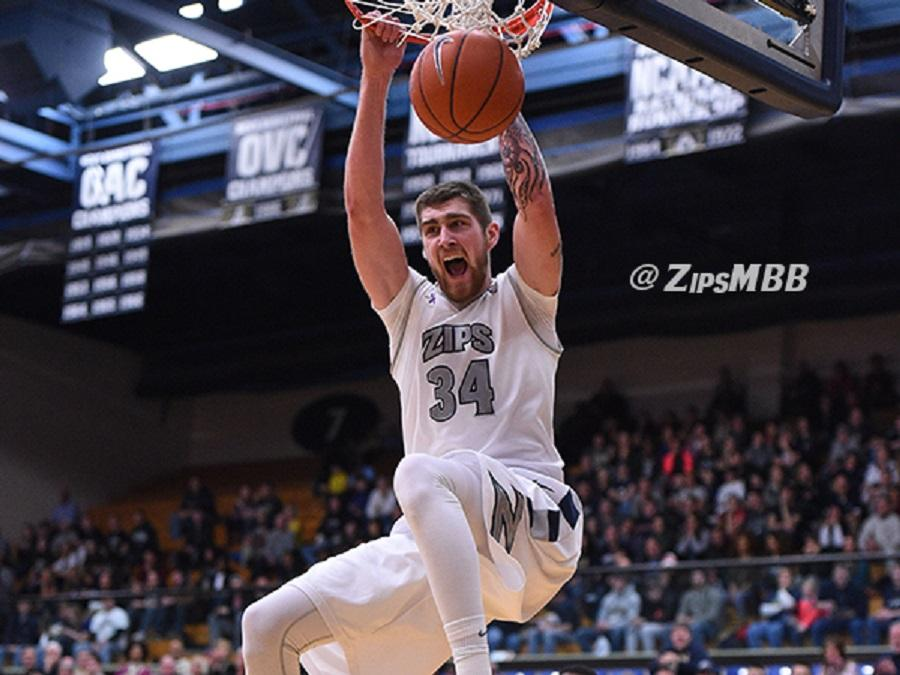 Pat Forsythe slams home two of his 20 points against Marshall.