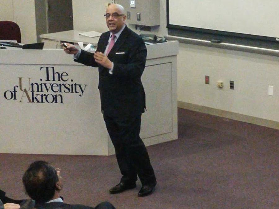 Julio M. Ottino, dean of the School of Engineering and Applied Science at Northwestern University visited UA on Dec. 4.