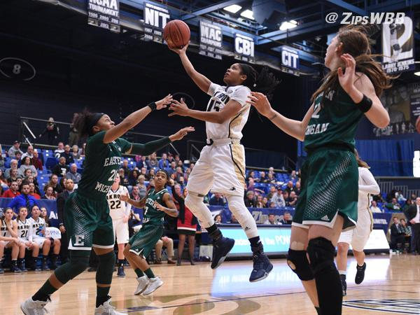 Anita Brown led the Zips with 27 points and 9 rebounds on Saturday afternoon.