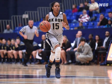 Senior Anita Brown led the Zips with a game high of 23 points.