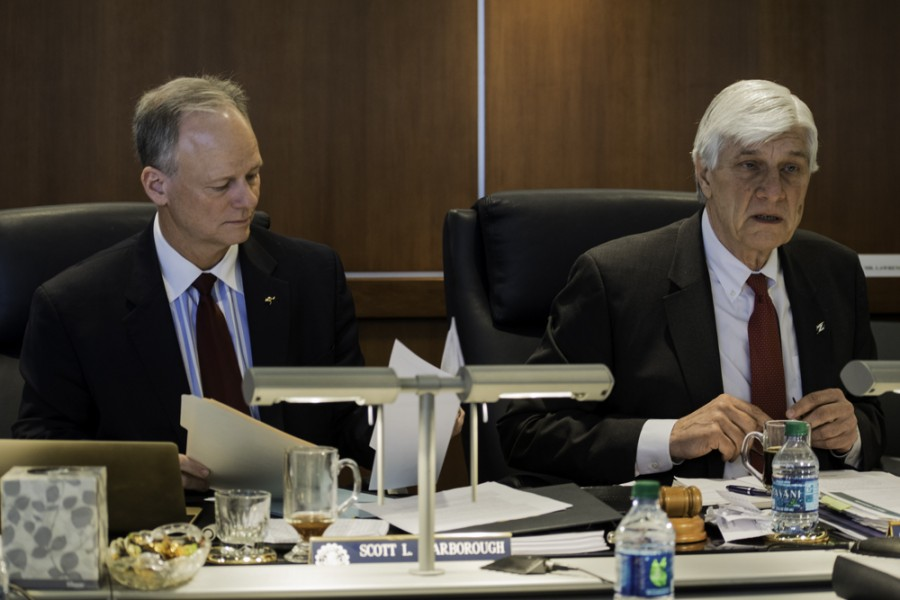 President Scott Scarborough, Board of Trustees Chair Jonathan Pavlov