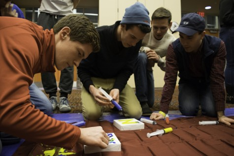 Team from Phi Delta Pheta take part in the Zips for St. Jude all-nighter fundraiser.