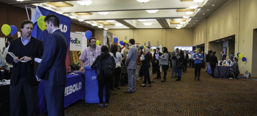 More than 300 employers and 1,600 students came to the Student Union during two Career Fairs on Tuesday and Wednesday.