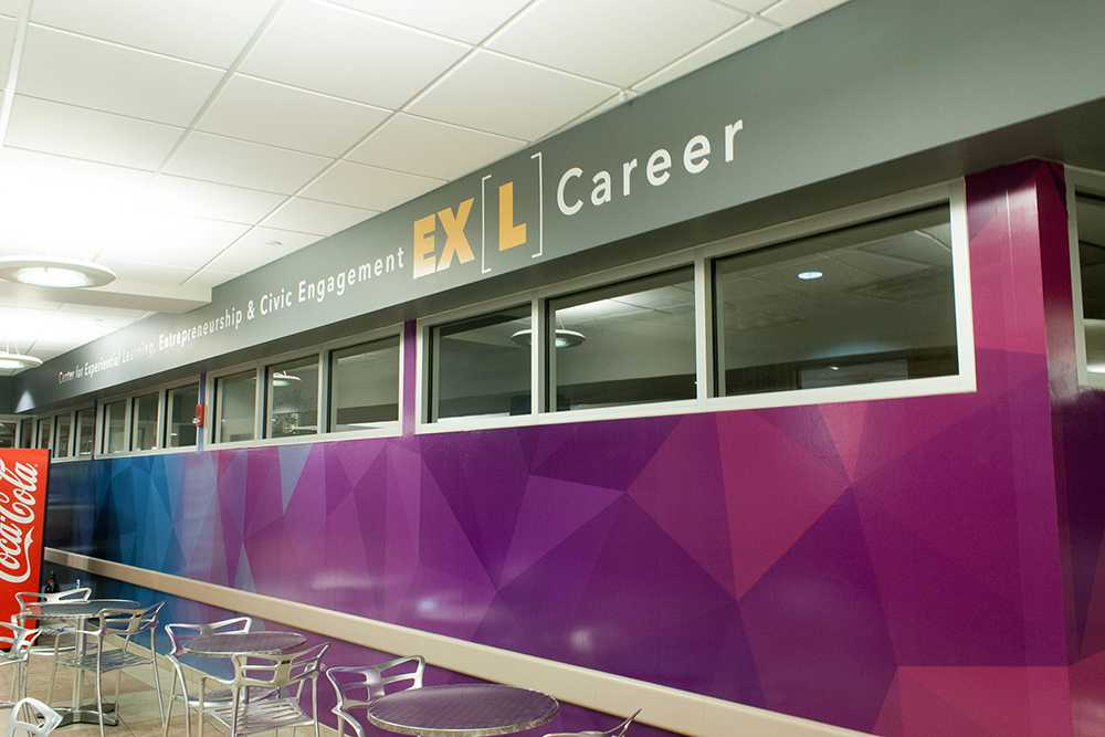 Career/EXL in the Student Union, along with Create/EXL in Bierce Library, start operations later this week, after more than nine months of preparation and construction.