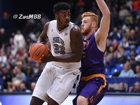 Despite their loss, Isaiah Johnson led the Zips with 21 points and eight rebounds against the RedHawks.