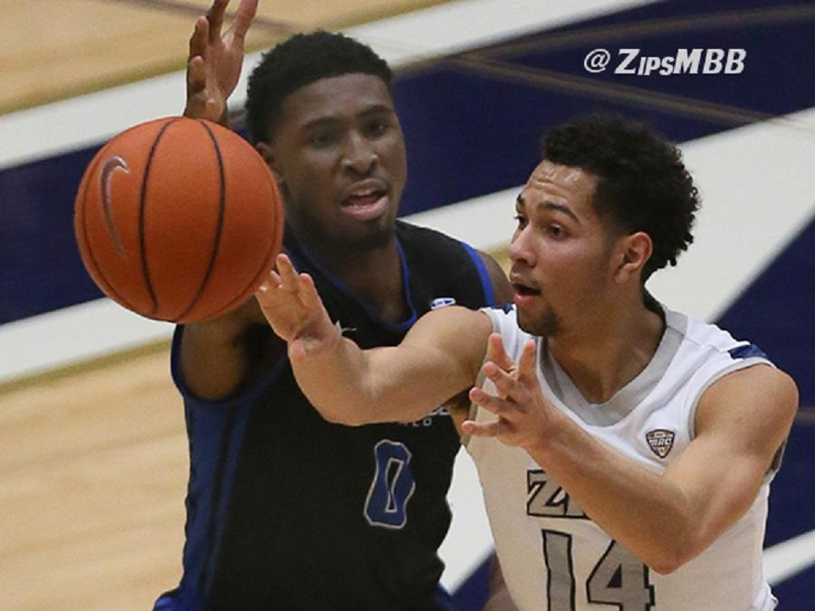 Noah Robotham had 16 points and 6 assists to help Akron to a 80-70 win over Buffalo.