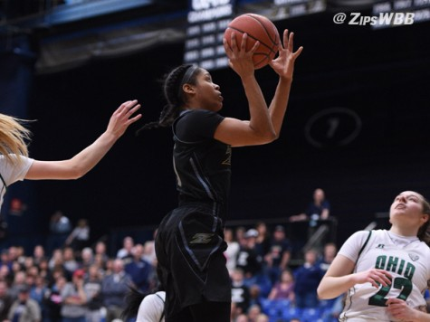 Anita Brown led the Zips with 29 points Saturday afternoon.