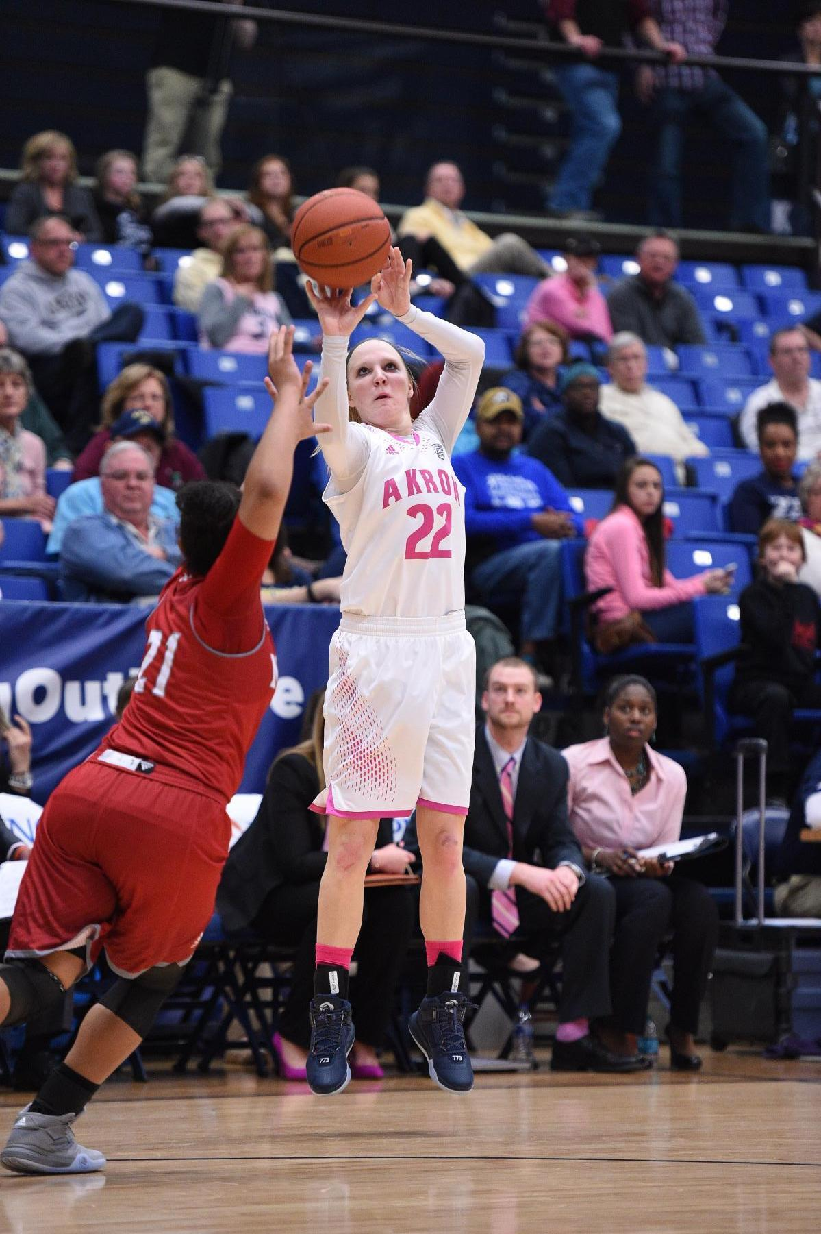 Hannah Plybon's career-high 26 points leads the Zips to a win over Miami (Ohio)