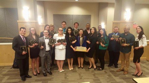 UA speech team poses for a photo after recieving awards last weekend at Capital University in Columbus.