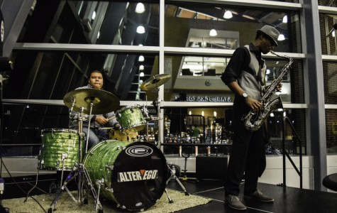 """Jazz Group """"Blue Pi"""" Entertains Crowd in the Student Union for the Conclusion of Black History Month"""