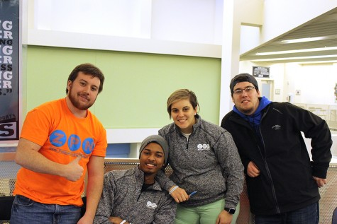 Picture left to right: Wyatt Nolker, Diontez Ross, Emily Kruft, Trevor Zorn.