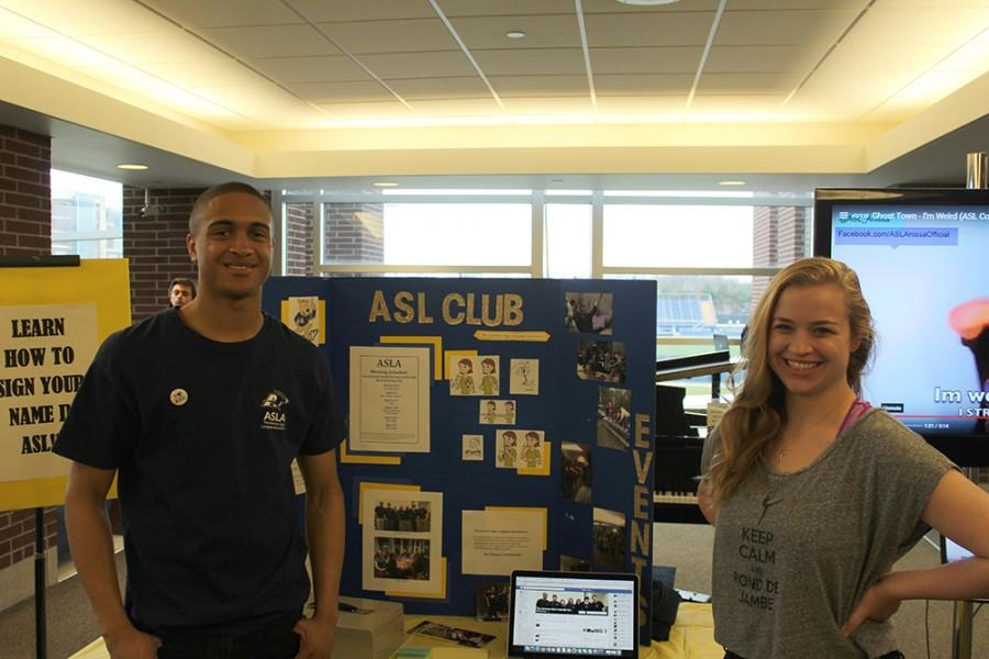 Senior Officers for the ASLA Club, Khalil Smoth and Margaret Katter.