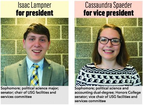 Isaac Lampner for president, Cassaundra Spaeder for vice president
