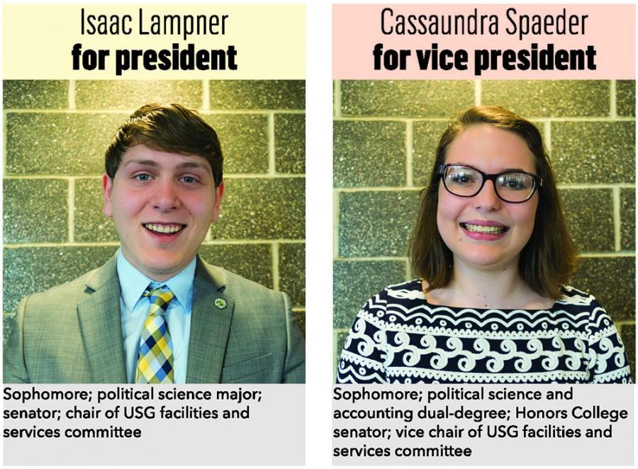 Isaac+Lampner+for+president%2C+Cassaundra+Spaeder+for+vice+president