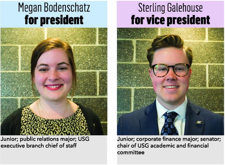 Megan+Bodenschatz+for+president%2C+Sterling+Galehouse+for+vice+president