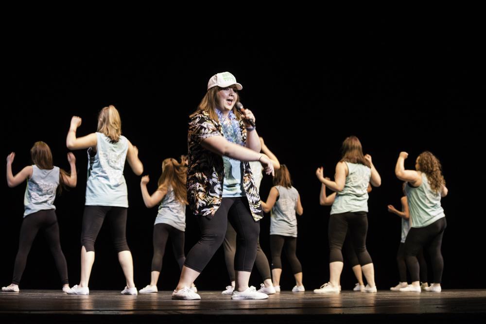 Ashley Trunik, a nursing major, raps