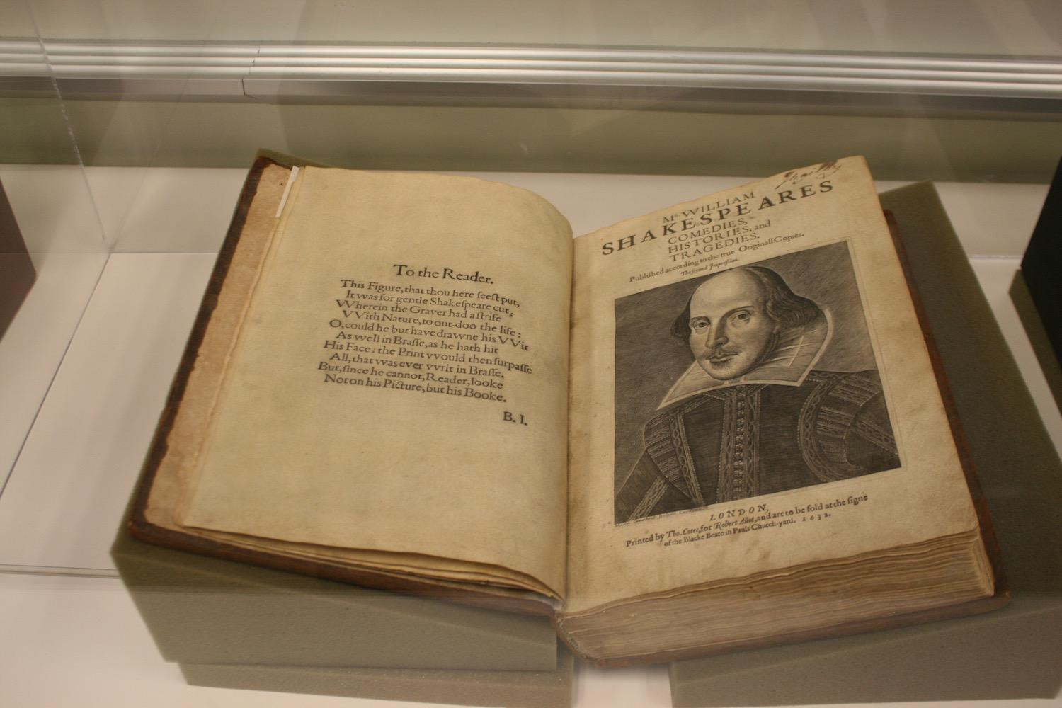 This 384-year-old book, UA archives' original copy of Shakespeare's second folio, was displayed at last Friday's event celebrating the playwright's life and work.