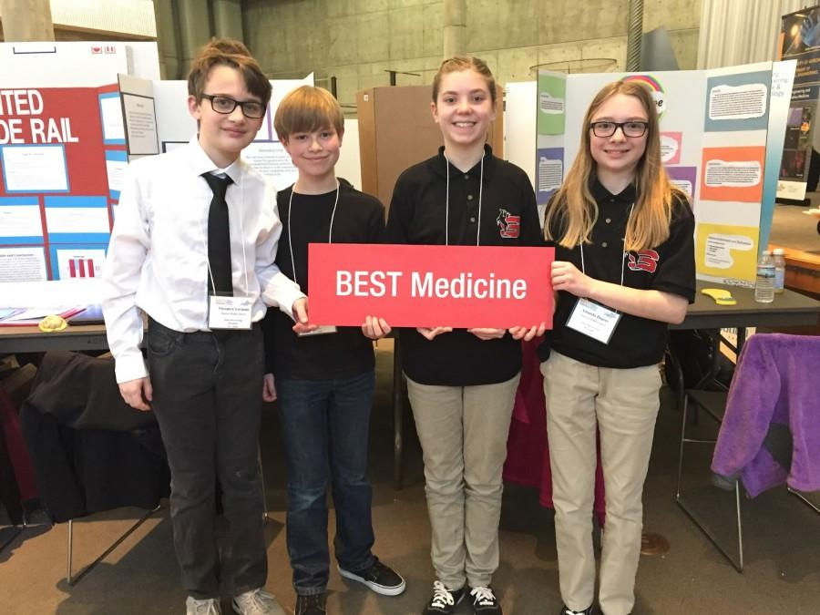 Left to right: Theordore Lovinski, Benjamin Pazderak, Paige Thompson, and Amanda Deprey, Stanton Middle schoolers competed in ______________