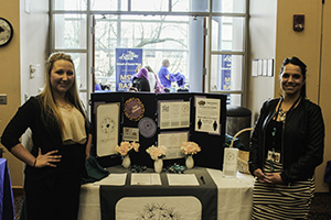 Rape Crisis Center table ran by Leanne Grimes (left) and Amanda Balner (right).