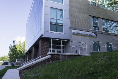 Construction on Zook Hall is completed.