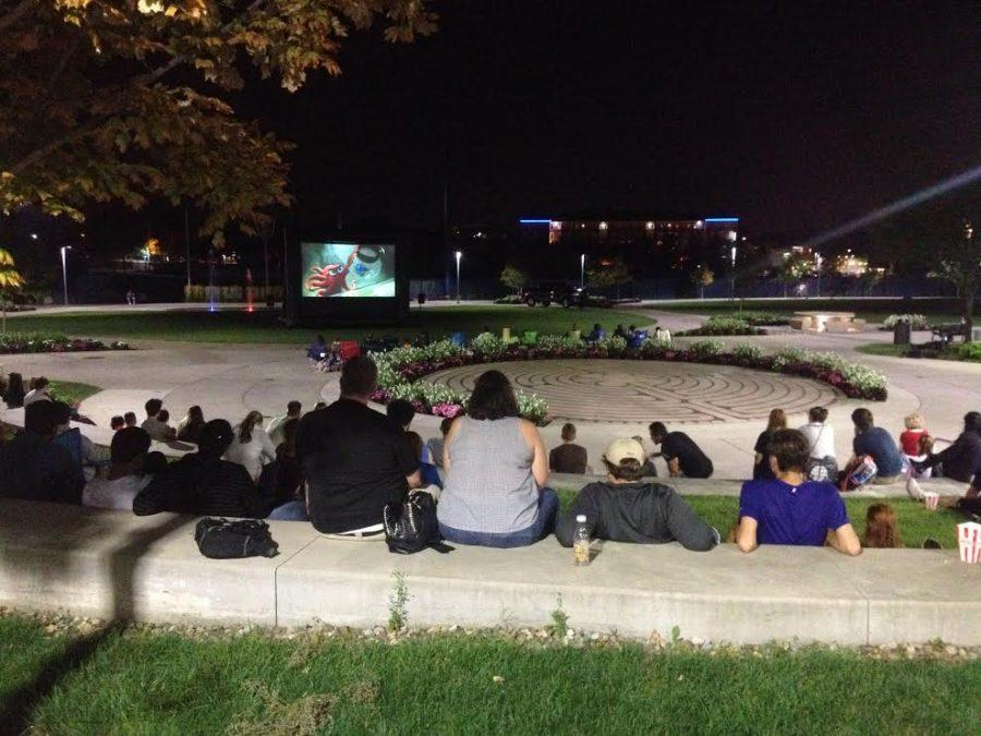 This was the first time ZPN played a movie outside.