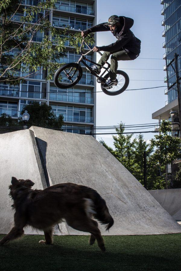Brian Sloan photographed BMX athlete Timmy Theus, pictured above, in Chicago after being selected as one of the 16 photographers in the Red Bull Illume competition.