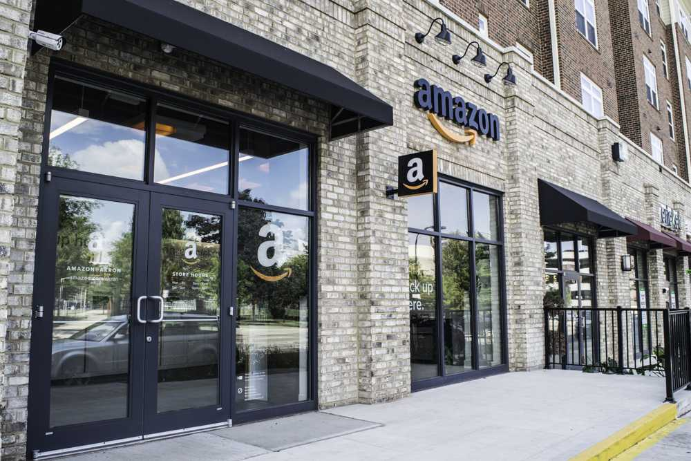 The Amazon store on Exchange Street.