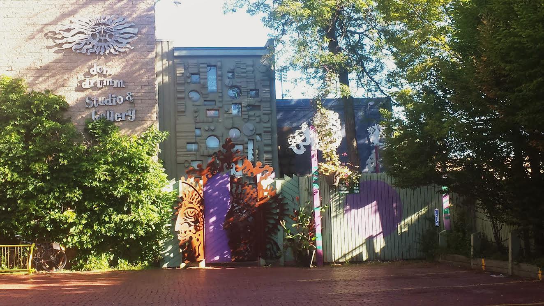 Entrance of Don Drumm Studios & Gallery.