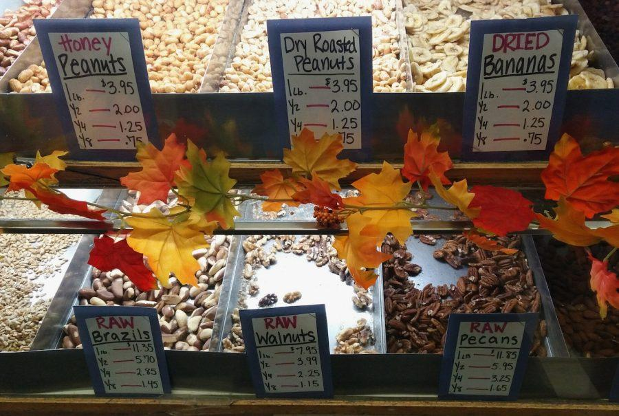 An assortment of nuts at The Peanut Shoppe.