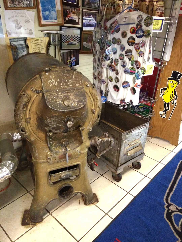 The Peanut Shoppe's old-fashioned roaster.