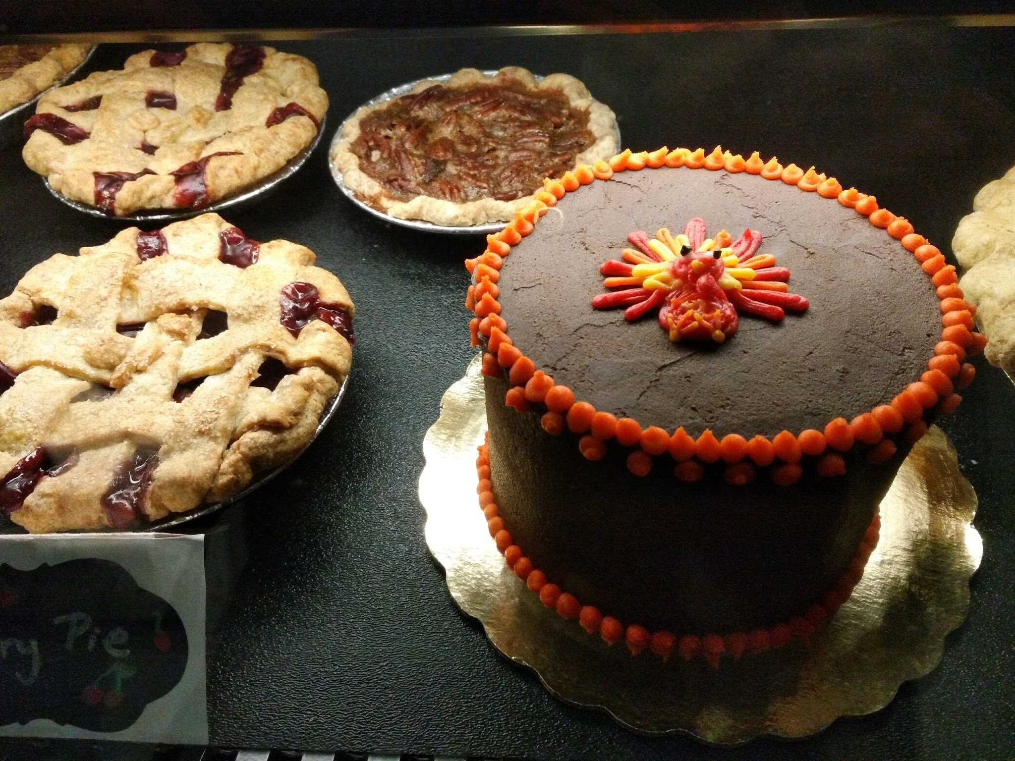 Pick up a festive pie or cake during Sweet Mary's Bakery's extended Thanksgiving hours.