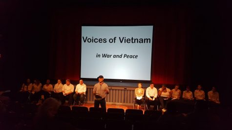 """English professor Patrick Chura (seen above) scripted """"Voices of Vietnam"""" from the interviews his Vietnamese students collected over the summer."""