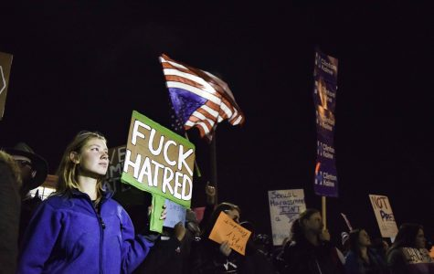 Anti-Trump protestors march through Akron