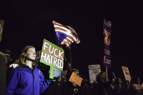 Anti-Trump protestors march through Akron