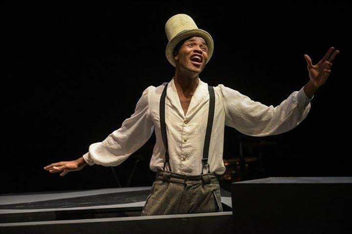 Student Jessie Armstead performed in The America Play last in the Sandefur Theatre in Guzzeta Hall.