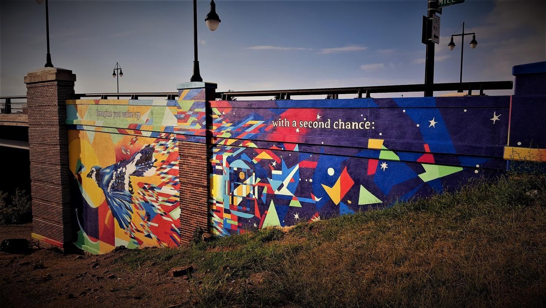 """""""Art Bomb"""" mural."""
