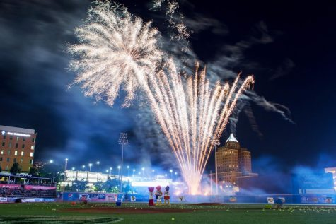 RubberDucks fireworks show at Canal Park