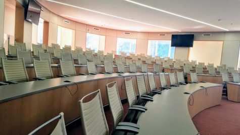 The new courtroom.