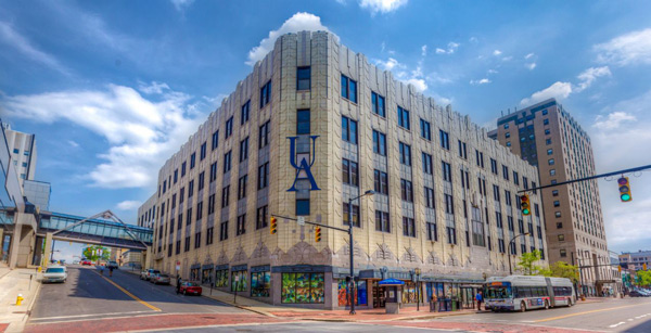 Akron's Polsky Building. (Photo courtesy of The University of Akron)
