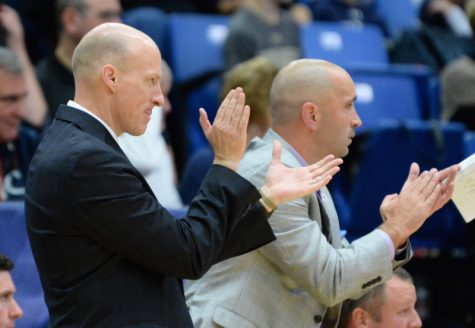 Head Coach John Groce Leads Akron to their first win of the season against the Cleveland State Vikings. (Photo Courtesy of The University of Akron Department of Athletics)