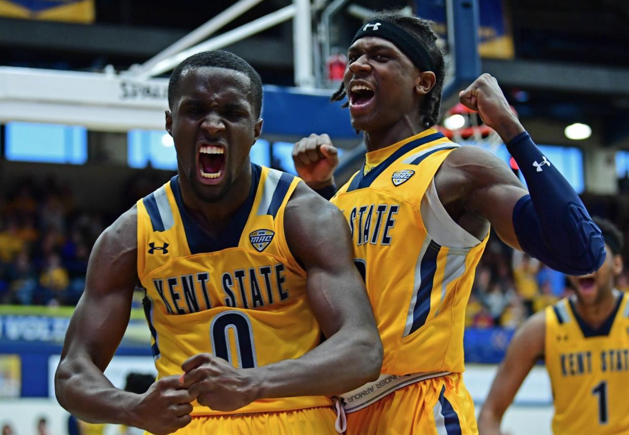 #0, Jalen Avery, celebrates after making back-to-back baskets.  (Photo courtesy of David Dermer)