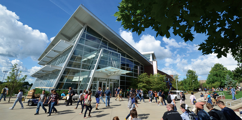 The Jean Hower Taber Student Union. (Photo courtesy of The University of Akron)