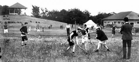 19th century men's field lacrosse played in Canada. {Photo courtesy of The Smithsonian.)