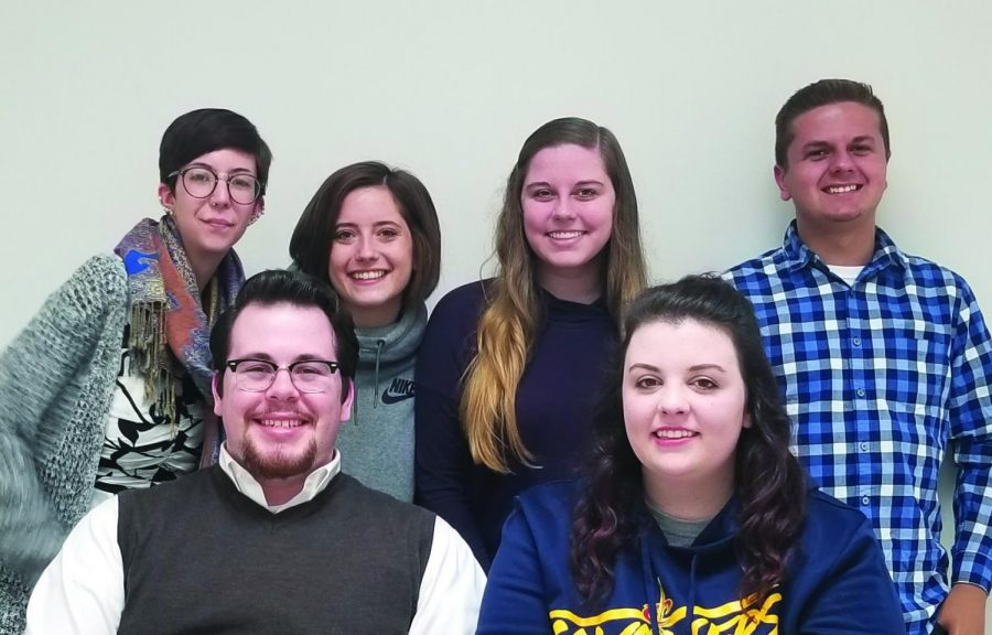 The Buchtelite Editorial Staff. (From left to right: Brooklyn Dennison, Robert Barrett, Jr., Erika Newcome, Sala Wier, Brianna Cramer and Jake Herron)
