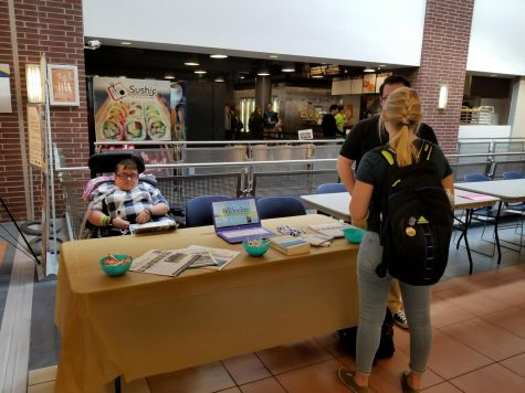 Using my spare time between classes this semester, I (left) helped table for the Buchtelite in the Student Union. This might not be possible during the fall semester.