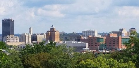 The Downtown Akron skyline.
